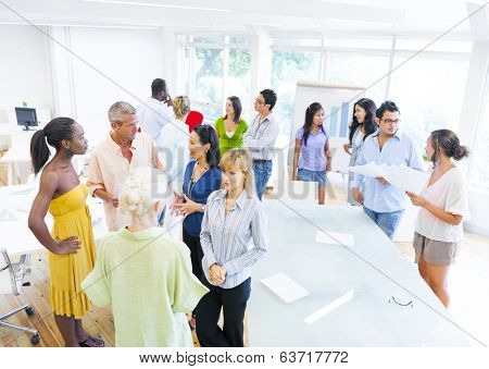 Group of Corporate People having Conversations