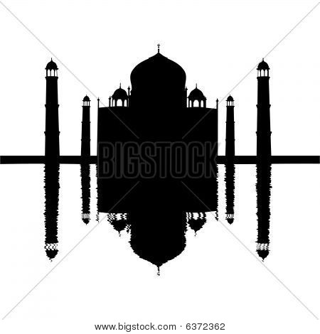 Taj Mahal Reflected