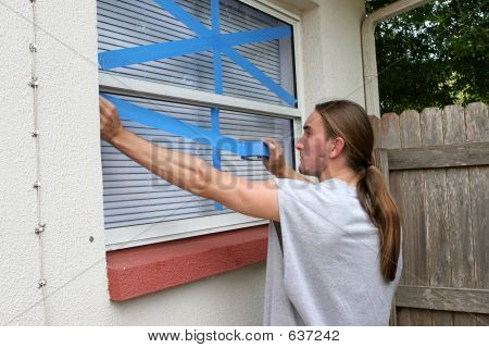 Teen Taping Windows H
