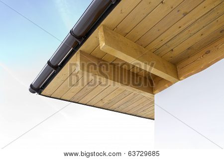 Trusses On Roof Of Home