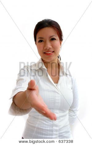 Woman Offering A Handshake