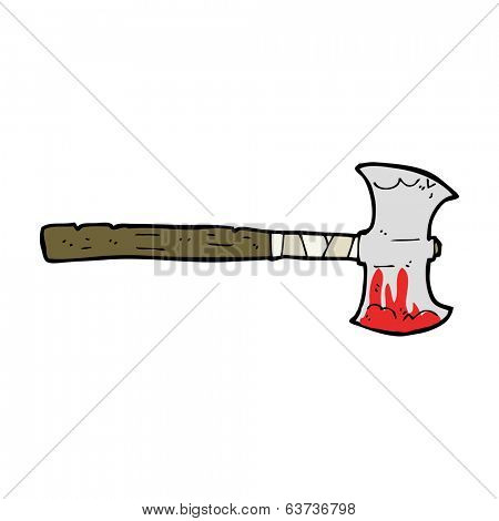 cartoon double sided axe
