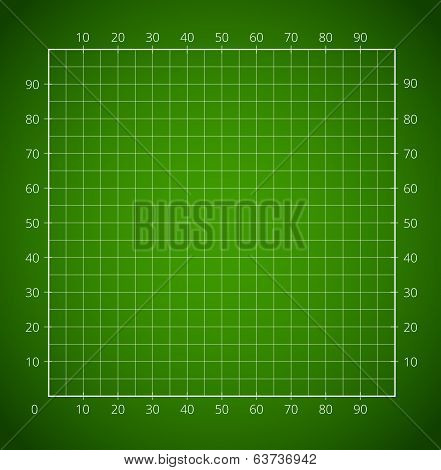 Green squared paper sheet.
