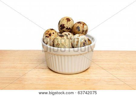 Quail Eggs In Ramekin