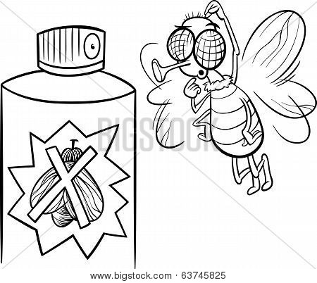 Fly And Bug Spray Coloring Page
