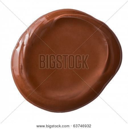 brown sealing wax retro post stamp isolated on white