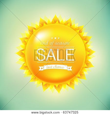 Sun Sale Background