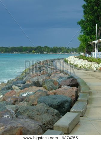 seaside boardwalk