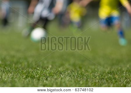Blurred Soccer Players