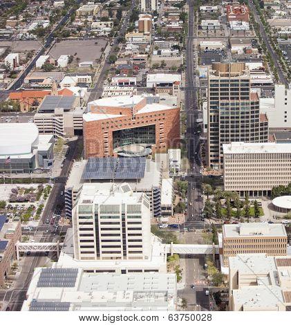 aerial view of downtown Phoenix, Arizona