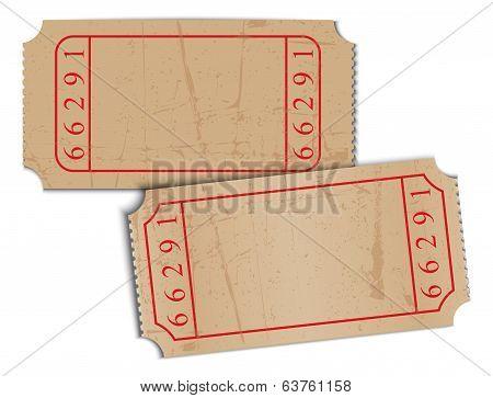 vintage blank paper tickets