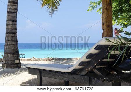 Lounges at the shore of Indian ocean, Zanzibar, Tanzania