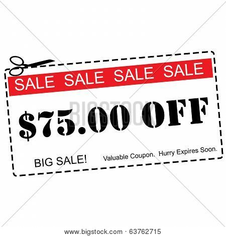 Seventy Five Dollars Off Sale Coupon
