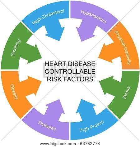 Heart Disease Controllable Risk Factors Circle Concept