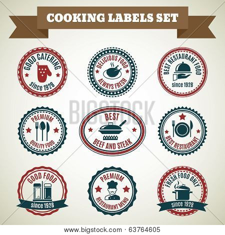 Cooking chef labels