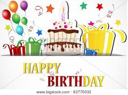 Birthday card Celebration with Birthday element