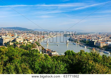 View Of Budapest And The Danube River