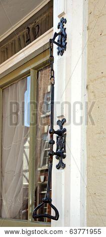 Old door bell pull, Lichfield.