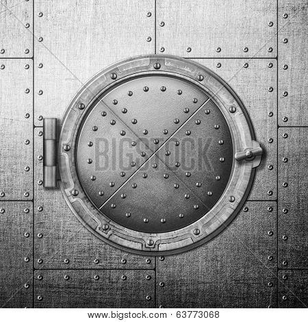 metal safe door illustration