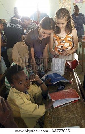 Visit French Schoolboys In Burkina Faso