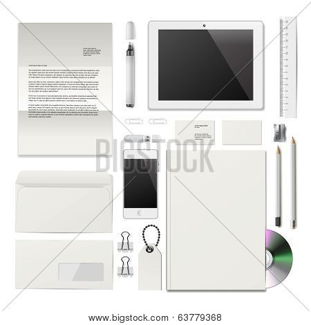 White Corporate ID mockup
