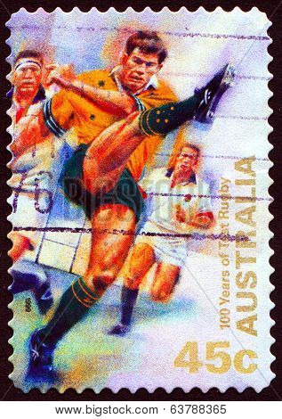 AUSTRALIA, CIRCA 1999:100 Years of Test Rugby, postage stamp, circa1999