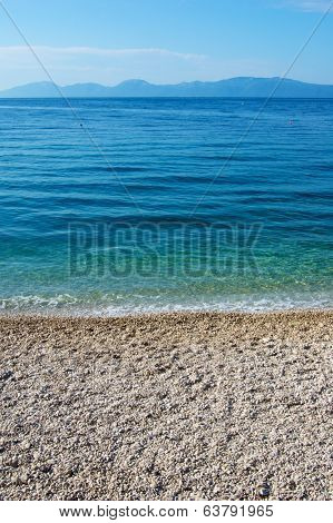 Pebble Beach Along Adriatic Sea