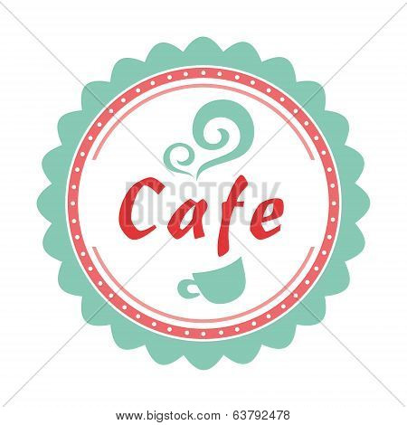 Label set for sweets-shop and cafe