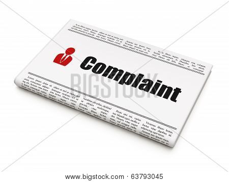 Law concept: newspaper with Complaint and Business Man