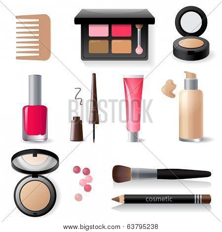 make-up icon set