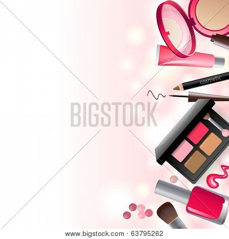 Glamorous make-up background