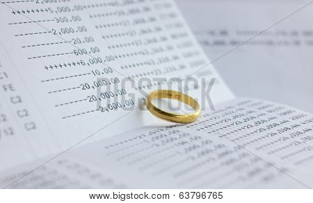 Saving Account Passbook With Gold Ring
