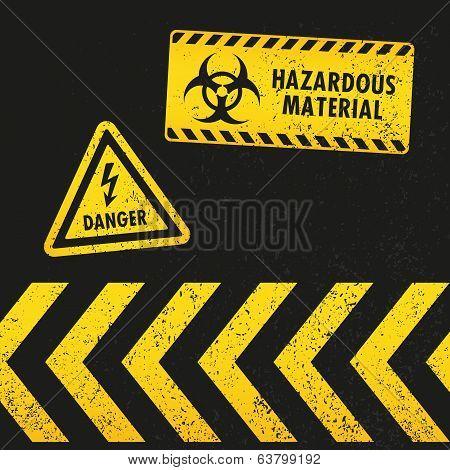 Grunge Hazard Signs