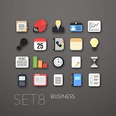 picture of summary  - Flat icons vector set   - JPG