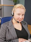 Female Receptionist with headset.