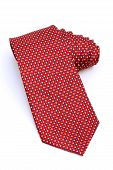 image of red-necked  - red neck tie isolated on white background - JPG
