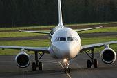 pic of aeroplane  - Aeroplane on an airport waiting for take off - JPG