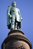 stock photo of dukes  - A statue of the Duke of Wellington situated on top of Wellington - JPG