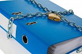 image of self-storage  - a file folder with chain and padlock closed - JPG