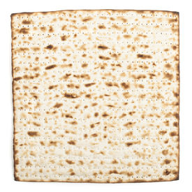 picture of piety  - Pesach jewish traditional textured Matza bread substitute isolated on white background - JPG