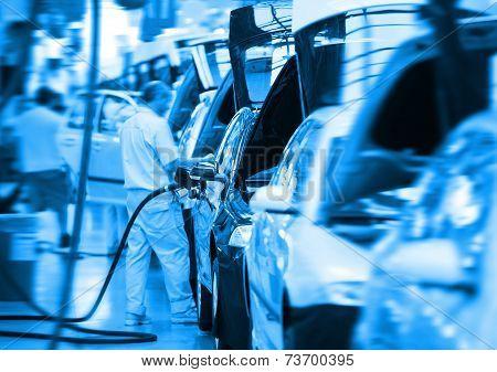 work at big car factory