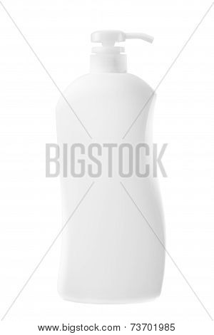 White Blank Bottle Isolated For Health Care Product.clipping Path