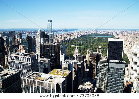 Aerial View Of Central Park And Midtown, New York City