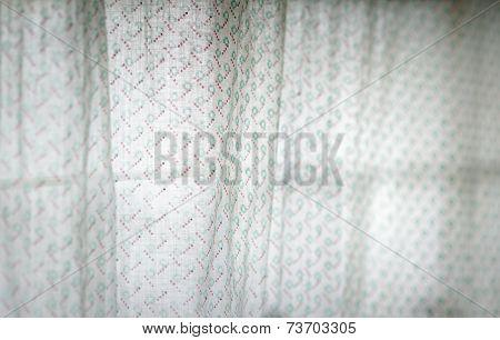 Translucent Old White Curtain.