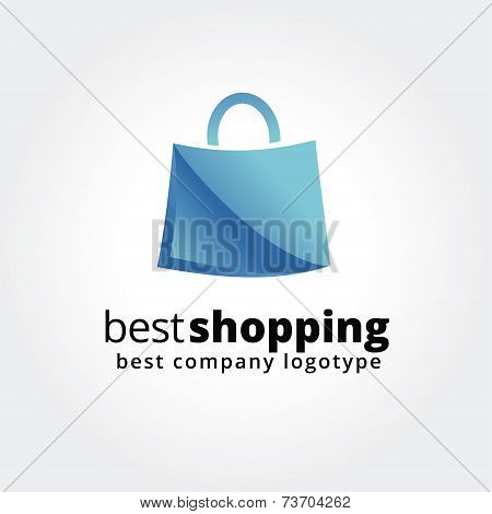 Abstract shopping logo icon concept isolated on white background for business design. Key ideas is s