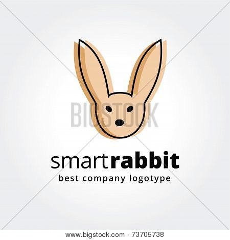 Abstract rabbit face logo icon concept isolated on white background for business design. Key ideas i