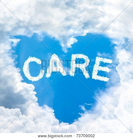 Care Concept Tell By Shy Cloud Nature