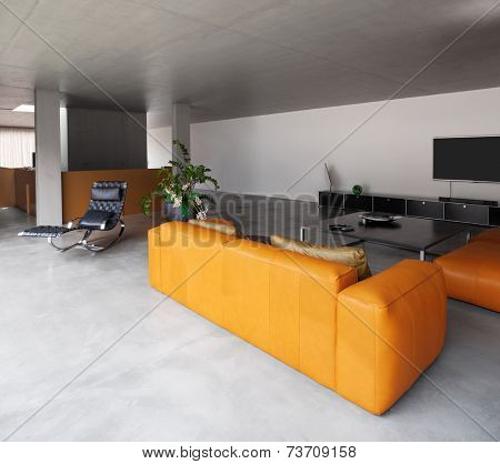 Modern house, living room