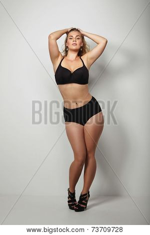 Sexy Plus Size Model With Curvy Figure