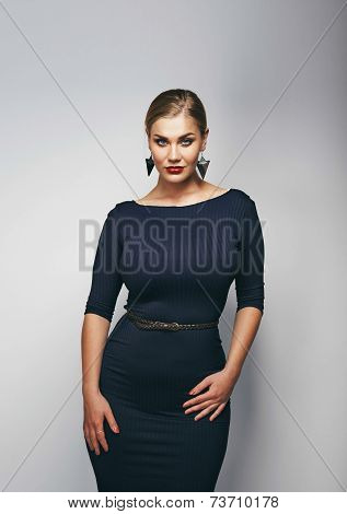 Attractive Young Plus Size Female Model